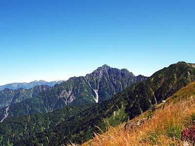 大日岳 鞍部から見た剱岳