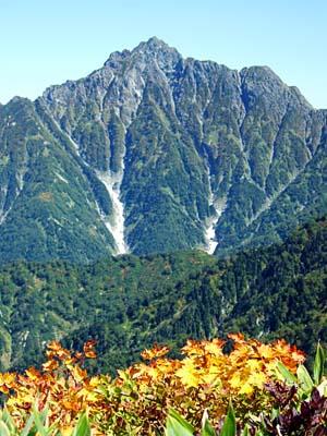 大日岳 頂上から紅葉と剱岳