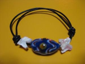 ◆ジャノメ柄とんぼ玉のブレスレット◆