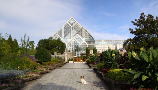 植物園の前です