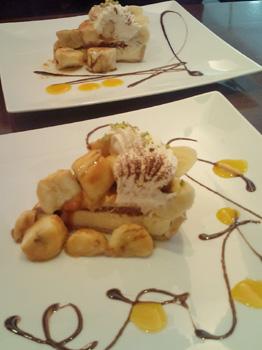 悠河さんも食べていたバナナタルト@BerryCafe