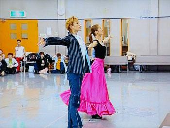 ダンシング・フォー・ユー:お稽古場 美しい宙のカップル☆