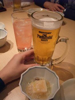 がんこ寿司での一杯♪