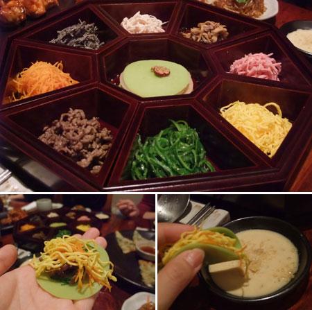 韓国宮廷料理、初めて食べました!