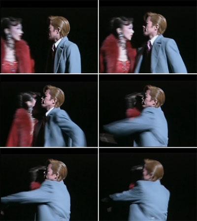 力強く強引にイヴェットを抱きしめる悠河ジャスティン