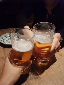 「ねのひ」ハルちゃんと乾杯☆