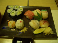 手まり寿司ときゅうり小巻