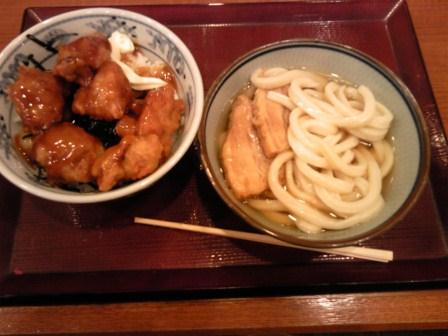 角煮うどんとから揚げ丼2