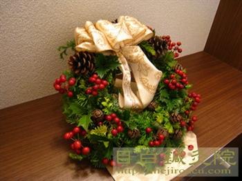 フレッシュなクリスマスリース 鍼灸院