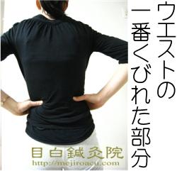 腰痛ツボ腎兪(じんゆ)腰のツボウエストツボ tarzan 肩こり