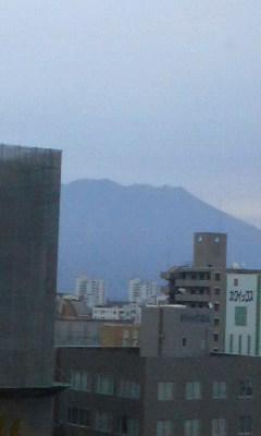 ホテルから見た桜島