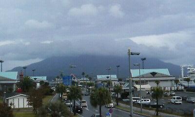ドルフィンポートから見た桜島