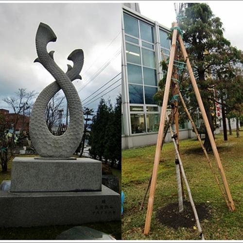観光大使白鵬の樹&長岡燕山作品