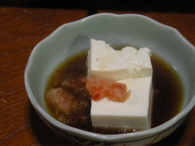 お豆腐からいってみる