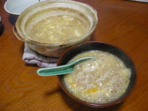 鍋のあとの雑炊