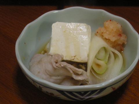 豆腐、オニク、ネギ