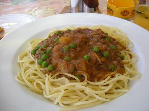 スパゲッティラビットソース
