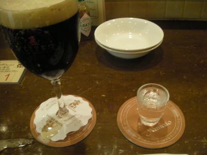 ビールとシュナップス