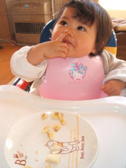 ゆい1歳0ヶ月 食事