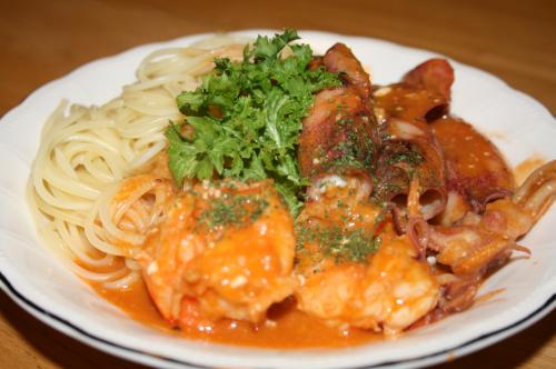 魚介のスパゲティー