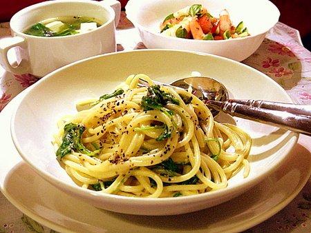 レモンとルッコラのスパゲッティ2