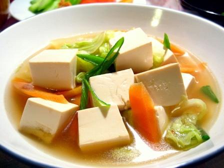 豆腐と白菜のごま風味煮