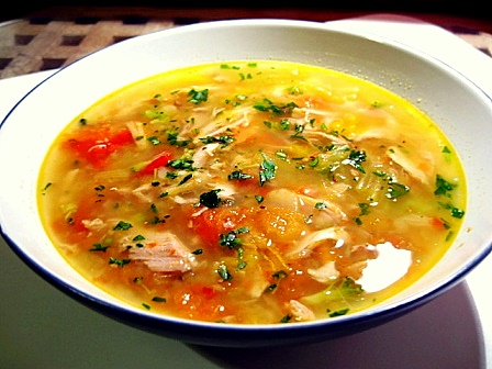 鶏と野菜のスープ