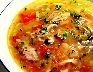 鶏と野菜のスープ2