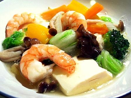 豆腐とエビのうま煮2