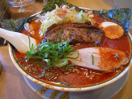 赤きゃべとん麺カタ大盛り5辛ごちそう盛り