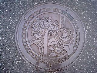 逃げ水の記録:苓北町のマンホールの蓋