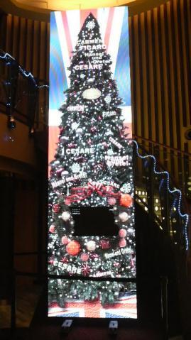 新宿バルト9のクリスマスツリー