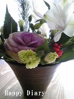 2009年お正月の花テーブル