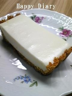 レアチーズケーキカット