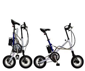自転車の 折り畳み自転車 電動 : ... 電動アシスト折り畳み自転車