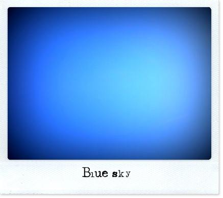 100 blue sky