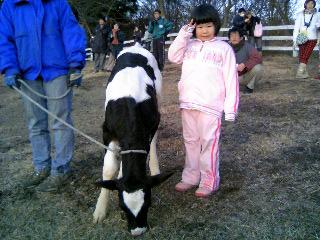 子牛とリナ