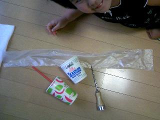 ビニール袋工作①