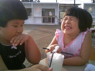 かき氷苺シロップ②