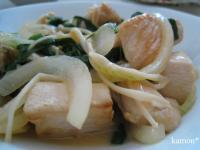 鶏肉と野菜の味噌バター丼
