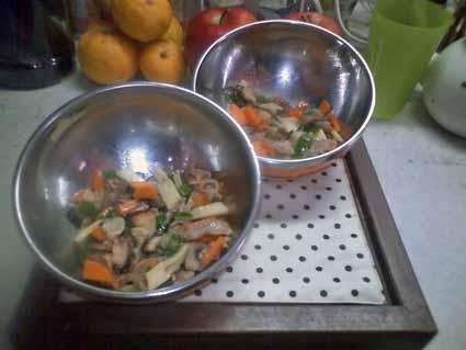 わんこご飯酢豚風(りんご入り)