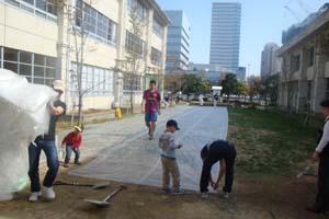 2009.11.8みんなの広場WOS工事 015