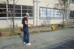 2009.11.8みんなの広場WOS工事 020