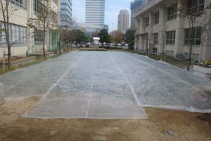 2009.11.8みんなの広場WOS工事 023
