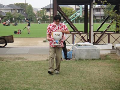 2010.10.23芝生メンテ 010