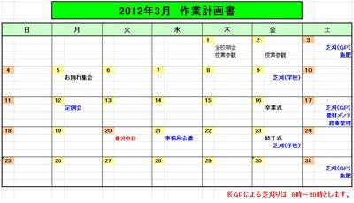 2012.3作業計画(テスト用)