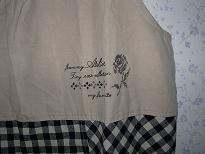 エプロン刺繍