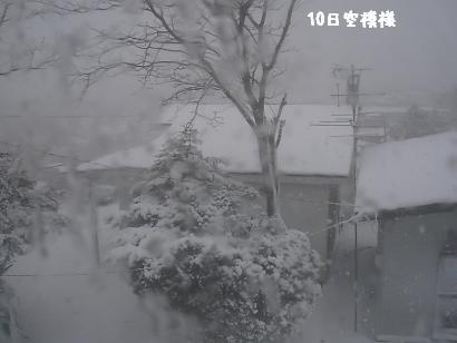 10日雪模様