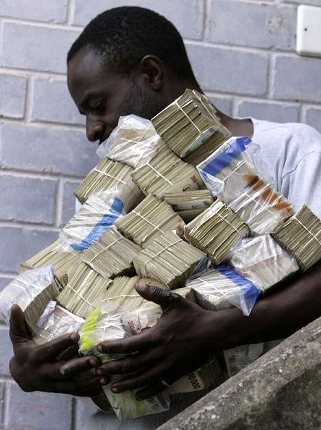 ジンバブエの買い物風景