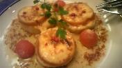山芋スモークチーズのガーリックソテー